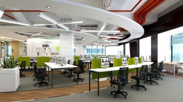 Mẫu thiết kế nội thất văn phòng làm việc